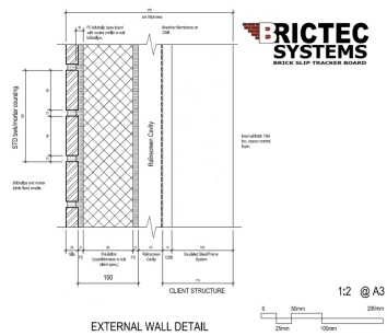 BBA Approved Brick Slip System,A1 non-combustible, BBA certified Brick Slip Runner Tracker board