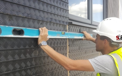 Brick Slip cladding systems, brick panels, mechanical fixed brick slips,brick slip panels, brick cladding panels,Polyurethane Brick Slip Tracking Sheet bonded to 10mm Cement Particle Board, 1.2m x 2.4m tracking panel in 17mm,25mm,50mm XPS. Suitable for External Wall Insulation (EWI), extensions, refurbishments, modular buildings, leisure and park homes, Insulated brick slip wall panels,brick slip insulation board,Brick Slips, insulation system, External Wal Insulation, insulated render, insulation, exterior insulation, render, ewi, , façade, fascade, façade system, external plaster, steel frame, timber frame, sip panels, modular, volumetric, refurbishment, offsite, brick slips, Brictec – Specialist in external wall insulation systems and brick slips for refurbishment new build / modular construction,Brick, Slips, Tiles, Slate, Brictec, Thin Bricks, thin bricks, thinbricks, brick slips, brickslips, matclad, brick tiles, brick wall tiles, rustic, modern, reclaimed,brick slip system, Brictec, approved installers, brick slip cladding, brick rainscreen, cladding, tiles, faux brick, mechanical fix,Brictec is a unique brick cladding system that combines the natural beauty of a clay bricks, with a mechanically fixed fast track metal rail, Slips on Site - Brick Slips - Brick Tiles cladding - Brick Slips - Stone Veneer - fitters - installers - brick slips uk - Commercial brick slip fitters - cladding - nationwide, brick slips uk,shop fitting